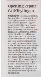Opening Repair Café Teylingen